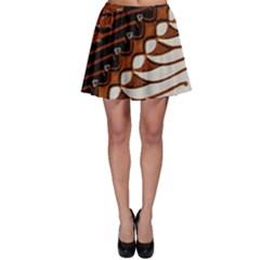 Traditional Batik Sarong Skater Skirt by BangZart