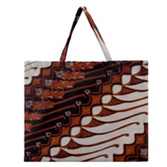 Traditional Batik Sarong Zipper Large Tote Bag by BangZart