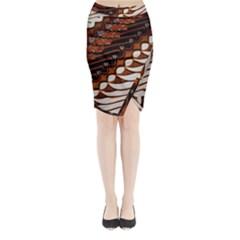 Traditional Batik Sarong Midi Wrap Pencil Skirt by BangZart