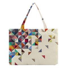 Retro Pattern Of Geometric Shapes Medium Tote Bag by BangZart