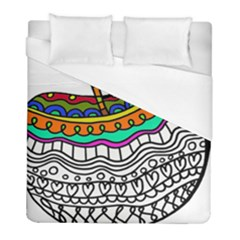 Abstract Apple Art Colorful Duvet Cover (full/ Double Size)