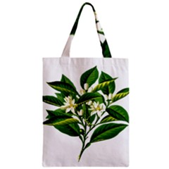 Bitter Branch Citrus Edible Floral Zipper Classic Tote Bag by Nexatart