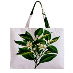 Bitter Branch Citrus Edible Floral Medium Tote Bag by Nexatart