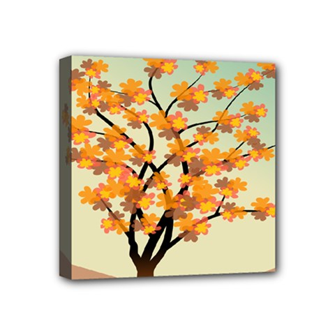 Branches Field Flora Forest Fruits Mini Canvas 4  X 4  by Nexatart