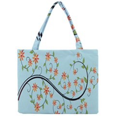 Branch Floral Flourish Flower Mini Tote Bag by Nexatart