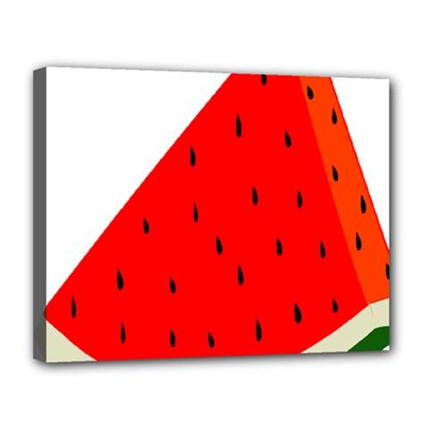 Fruit Harvest Slice Summer Canvas 14  X 11  by Nexatart