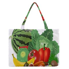 Fruits Vegetables Artichoke Banana Medium Zipper Tote Bag by Nexatart