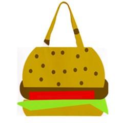 Hamburger Food Fast Food Burger Zipper Large Tote Bag by Nexatart