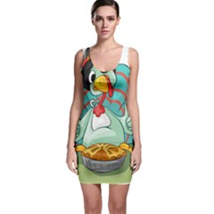 Pie Turkey Eating Fork Knife Hat Bodycon Dress by Nexatart