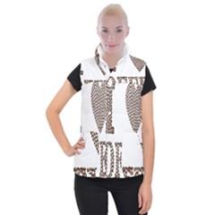 Love Heart Romance Passion Women s Button Up Puffer Vest by Nexatart