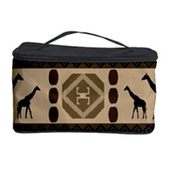 Giraffe African Vector Pattern Cosmetic Storage Case by BangZart