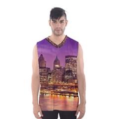 City Night Men s Basketball Tank Top