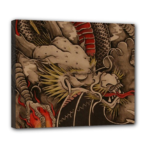 Chinese Dragon Deluxe Canvas 24  X 20   by BangZart