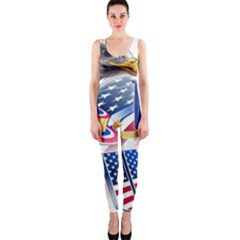United States Of America Usa  Images Independence Day Onepiece Catsuit by BangZart