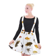Goldfish Suspender Skater Skirt by BangZart