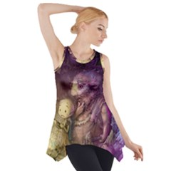 Cartoons Video Games Multicolor Side Drop Tank Tunic by BangZart