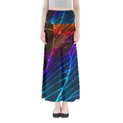 Cracked Out Broken Glass Full Length Maxi Skirt by BangZart