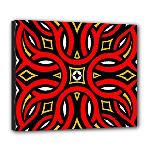 Traditional Art Pattern Deluxe Canvas 24  X 20   by BangZart