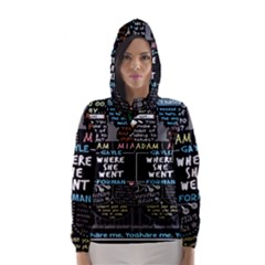 Book Quote Collage Hooded Wind Breaker (women) by BangZart