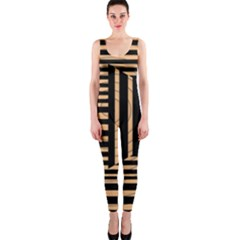 Wooden Pause Play Paws Abstract Oparton Line Roulette Spin Onepiece Catsuit by BangZart