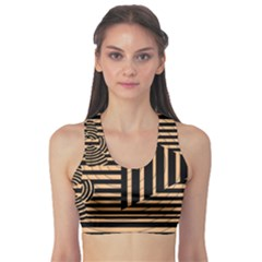 Wooden Pause Play Paws Abstract Oparton Line Roulette Spin Sports Bra