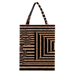 Wooden Pause Play Paws Abstract Oparton Line Roulette Spin Classic Tote Bag by BangZart