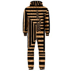 Wooden Pause Play Paws Abstract Oparton Line Roulette Spin Hooded Jumpsuit (men)