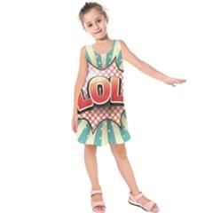 Lol Comic Speech Bubble  Vector Illustration Kids  Sleeveless Dress by BangZart