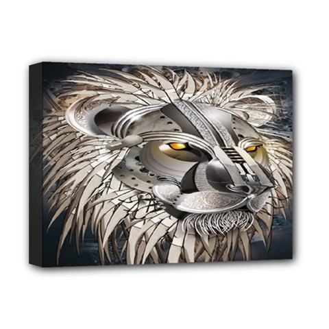 Lion Robot Deluxe Canvas 16  X 12   by BangZart