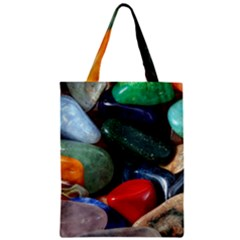 Stones Colors Pattern Pebbles Macro Rocks Zipper Classic Tote Bag by BangZart