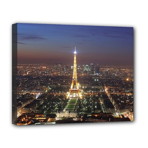 Paris At Night Deluxe Canvas 20  X 16   by BangZart