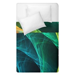 Aura Waves Duvet Cover Double Side (single Size) by designsbyamerianna