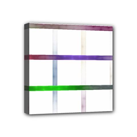 Blurred Lines Mini Canvas 4  X 4  by designsbyamerianna