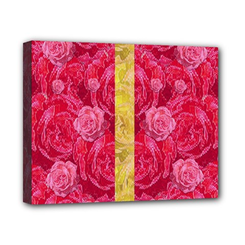 Rose And Roses And Another Rose Canvas 10  X 8  by pepitasart