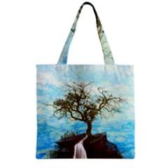 Single Tree Grocery Tote Bag by berwies