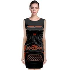 Traditional Northwest Coast Native Art Classic Sleeveless Midi Dress by BangZart