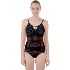 Traditional Northwest Coast Native Art Cut Out Top Tankini Set