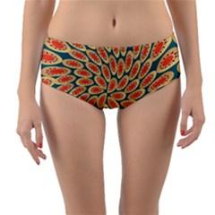 Stars Twirl Reversible Mid Waist Bikini Bottoms by linceazul
