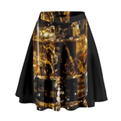 Drink Good Whiskey High Waist Skirt by BangZart