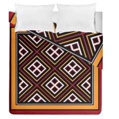 Toraja Pattern Pa re po  Sanguba ( Dancing Alone ) Duvet Cover Double Side (queen Size) by BangZart