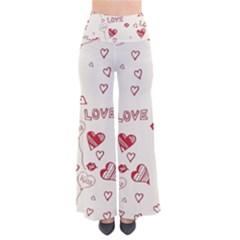Pattern Hearts Kiss Love Lips Art Vector Pants