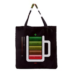 Black Energy Battery Life Grocery Tote Bag by BangZart