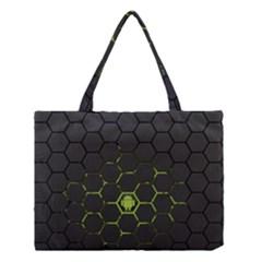 Green Android Honeycomb Gree Medium Tote Bag by BangZart