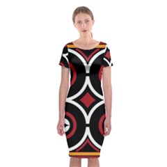 Toraja Pattern Ne limbongan Classic Short Sleeve Midi Dress