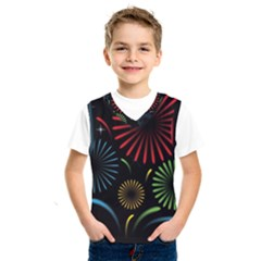 Fireworks With Star Vector Kids  Sportswear