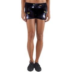 Face Black Cat Yoga Shorts