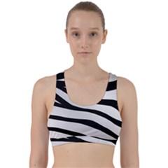 White Tiger Skin Back Weave Sports Bra by BangZart