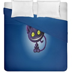 Funny Cute Cat Duvet Cover Double Side (king Size) by BangZart