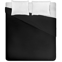 Black Duvet Cover Double Side (california King Size) by BangZart