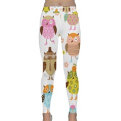 Cute Owls Pattern Classic Yoga Leggings